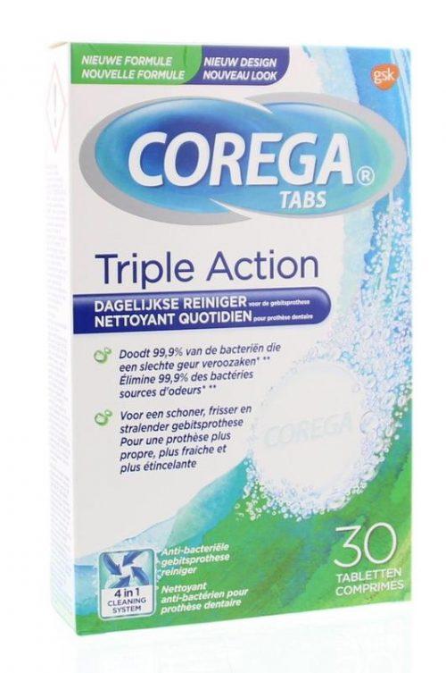 Corega Tabletten triple action 30 tabletten